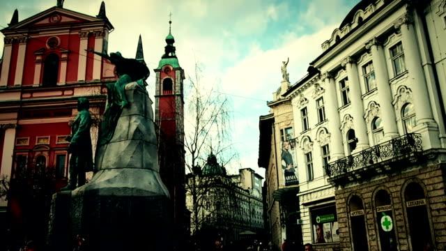 Stadt in Ljubljana (Slowenien)