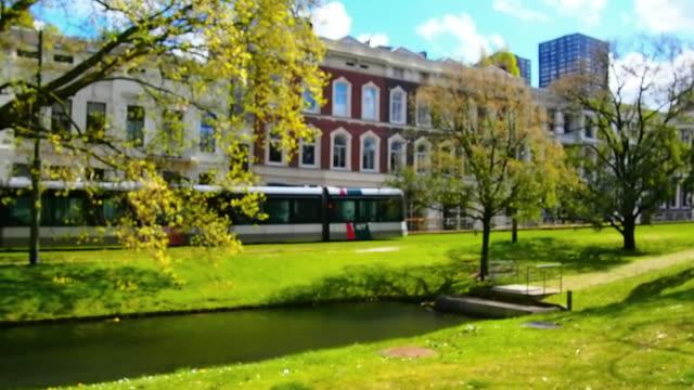 city life at rotterdam, netherland - rotterdam stock videos and b-roll footage
