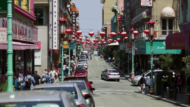 city life in chinatown of san francisco, ca - chinatown stock videos & royalty-free footage