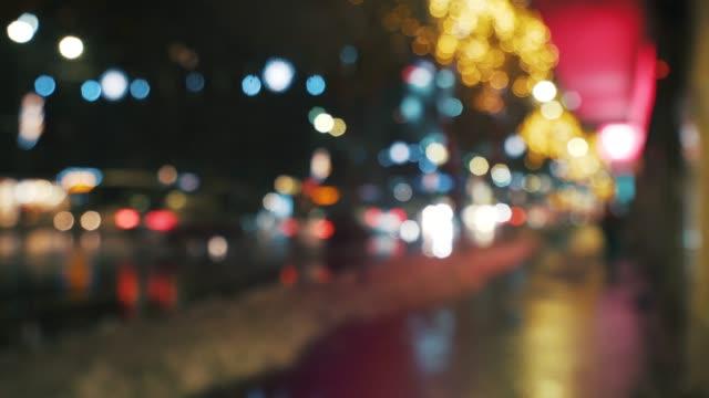 stadslivet i juletid. - bakljus bildbanksvideor och videomaterial från bakom kulisserna