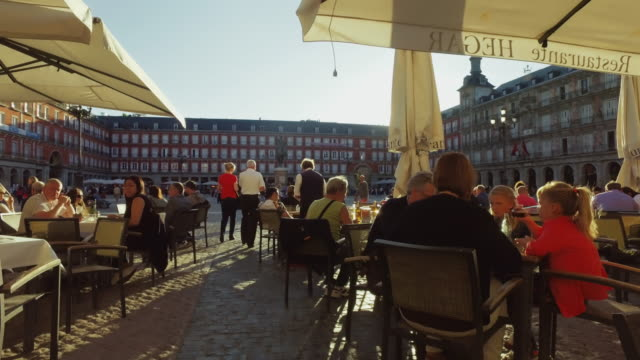 City life in Madrid, Spain: Plaza Major