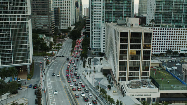 city life in miami - miami dade county stock videos & royalty-free footage