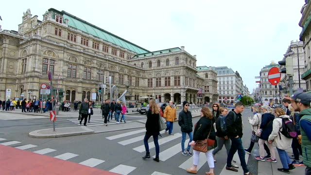 city life in the capital of austria, vienna. - crossroad stock videos & royalty-free footage