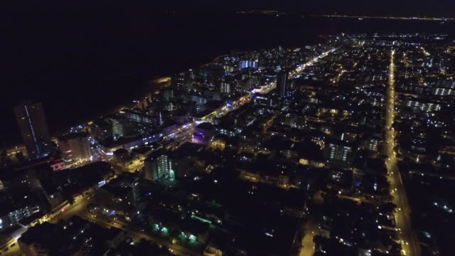 city lights at night from the sky - cape town stock videos & royalty-free footage