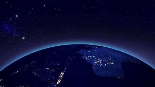 City lights in Australia from space
