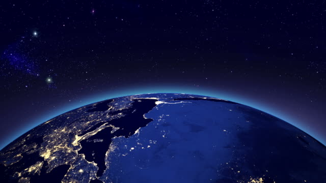 city lights in europe & africa from space - globe navigational equipment stock videos and b-roll footage