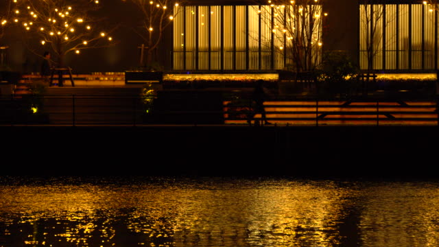 city lights reflections - boat - plusphoto stock videos & royalty-free footage