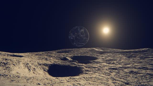 月から見た街の明かり(アジアビュー) - 隕石孔点の映像素材/bロール