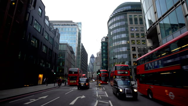 city london, time lapse - double decker bus stock videos & royalty-free footage