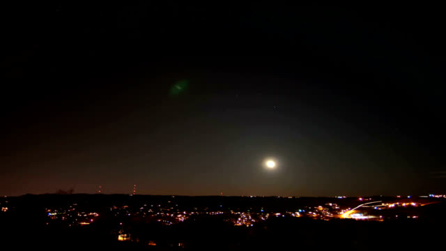 city moonrise, timelapse - altocumulus stock videos and b-roll footage