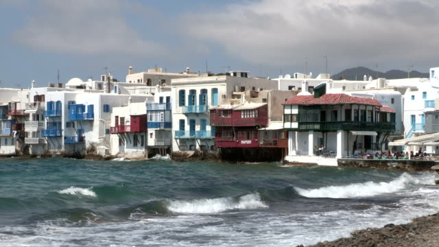 city, mykonos island, greece - mykonos stock videos & royalty-free footage