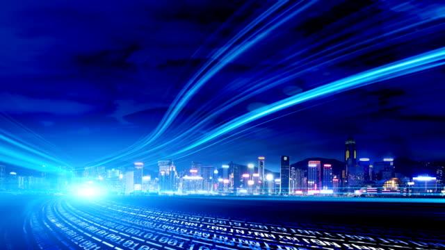 vidéos et rushes de technologie de réseau-ville - correction numérique