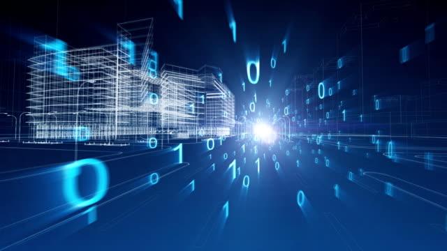 vídeos y material grabado en eventos de stock de tecnología de red de la ciudad - aumento digital