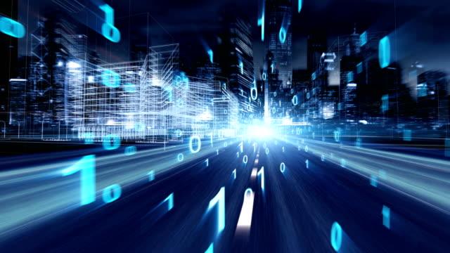 vídeos de stock, filmes e b-roll de tecnologia de rede da cidade - manipulação digital