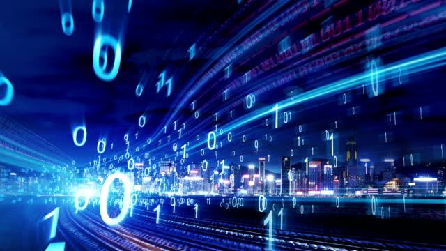 stadt-netzwerk-technologie - computer network stock-videos und b-roll-filmmaterial