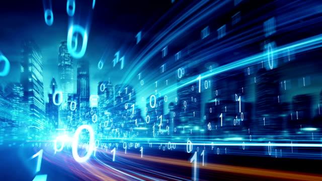 stockvideo's en b-roll-footage met stad netwerktechnologie - beveiliging