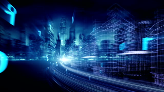 vídeos y material grabado en eventos de stock de tecnología de red de la ciudad - negocios finanzas e industria