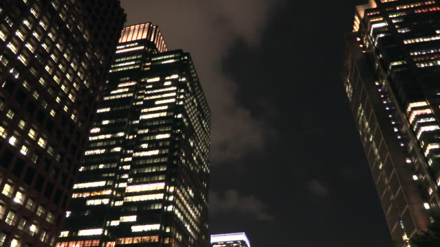 city night view in tokyo - low angle view stock videos & royalty-free footage