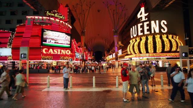 ws, t/l, city nightlife, las vegas, nevada, usa - las vegas crosses stock-videos und b-roll-filmmaterial