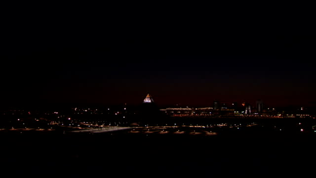 city of astana at night\n available in hd. - kazakhstan stock videos and b-roll footage