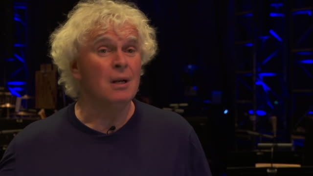 "city of birmingham symphony orchestra conductor, sir simon rattle, saying the cuts made by the city of birmingham are ""a scandal"" - bbc symphony orchestra stock videos & royalty-free footage"