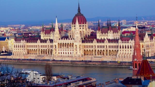 city of budapest - széchenyi chain bridge stock videos & royalty-free footage