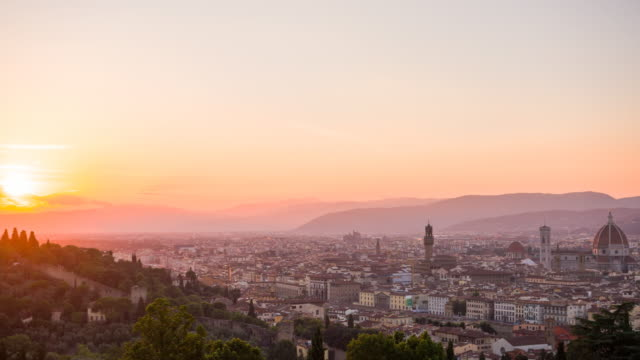 city of florence, italy at sunset - florence stock videos and b-roll footage