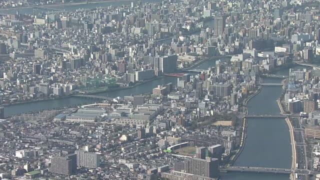 vidéos et rushes de aerial, city of hiroshima, hiroshima, japan - hiroshima prefecture
