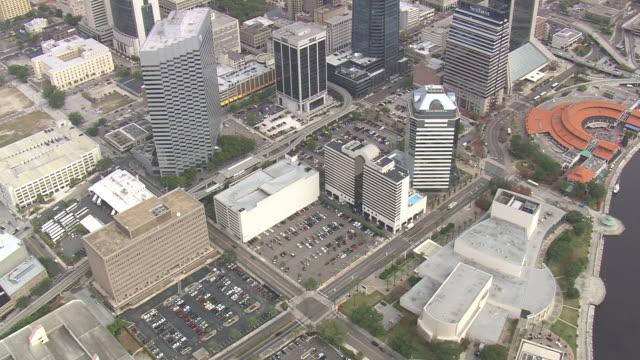 aerial ws city of jacksonville / florida, united states - jacksonville florida video stock e b–roll