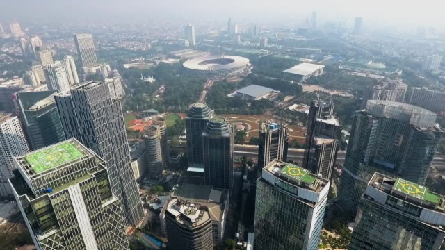 city of jakarta and 2018 asian games main venue - jakarta stock videos & royalty-free footage