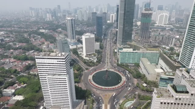 City of Jakarta and Its Famous Landmark: Bundaran HI Roundabout