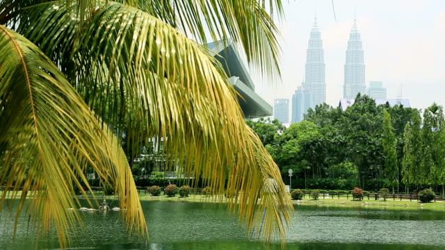 City of Kuala Lumpur from Lake Titiwangsa, Malaysia