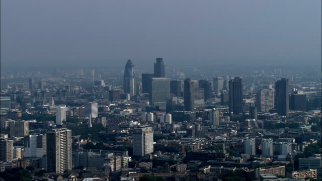 city of london  - aerial view - england, greater london, city of london, united kingdom - wide stock videos and b-roll footage