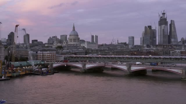 City of London and Blackfriars Bridge from the Southwest