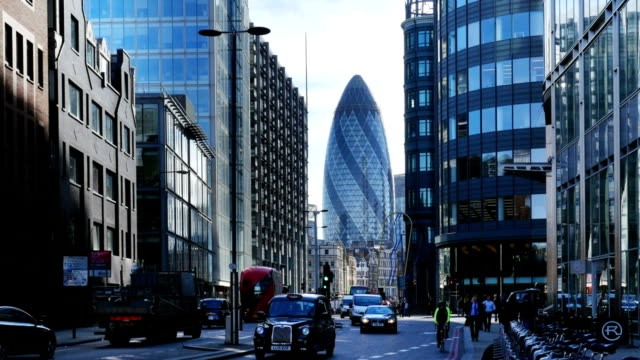 city of london and the gherkin north view - uk stock videos & royalty-free footage