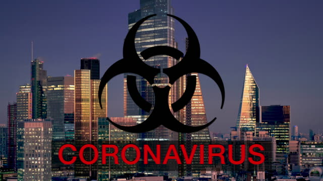 city of london coronavirus uncertainty - biohazard symbol stock videos & royalty-free footage