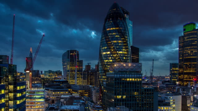 City of London, Evening - Timelapse