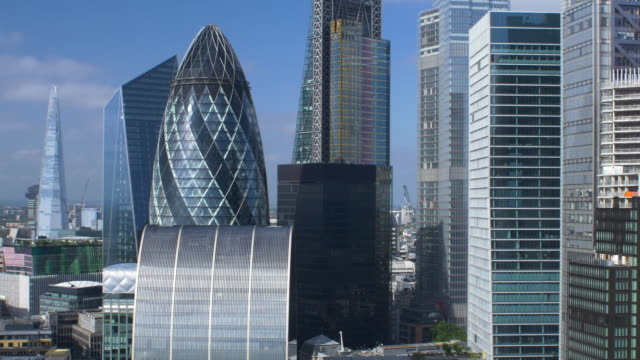 city of london financial district. early morning. - london england stock videos & royalty-free footage