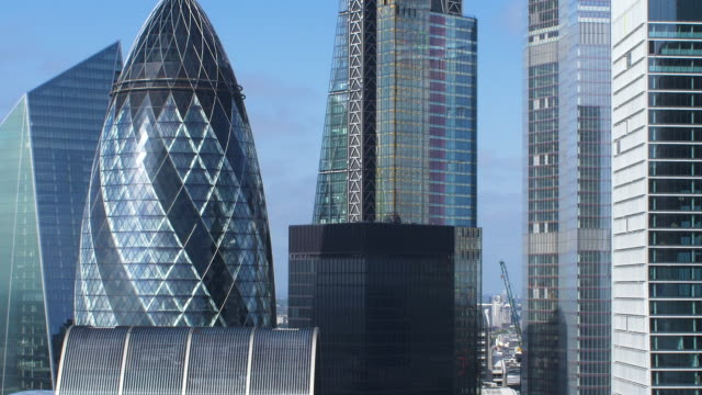 city of london financial district. early morning. - city of london stock videos & royalty-free footage