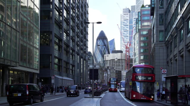 city of london from the north - sir norman foster building stock videos & royalty-free footage