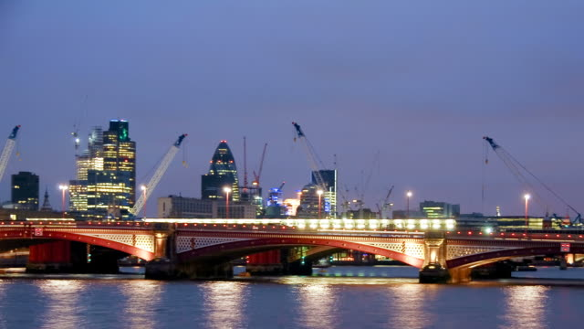 City of London panning timelapse