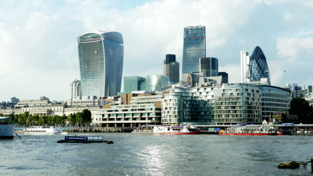 City Of London Skyline And Thames River