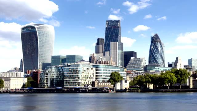 city of london skyline - swiss re stock videos & royalty-free footage