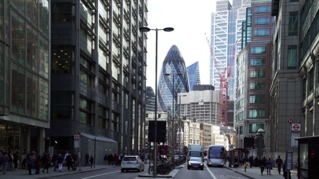 city of london skyscrapers from the north - sir norman foster building stock videos & royalty-free footage