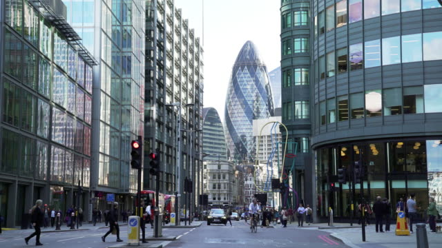 city of london skyscrapers from the north - city of london stock videos & royalty-free footage