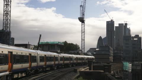 倫敦城市摩天大樓與校長塔從北。 - hackney 個影片檔及 b 捲影像