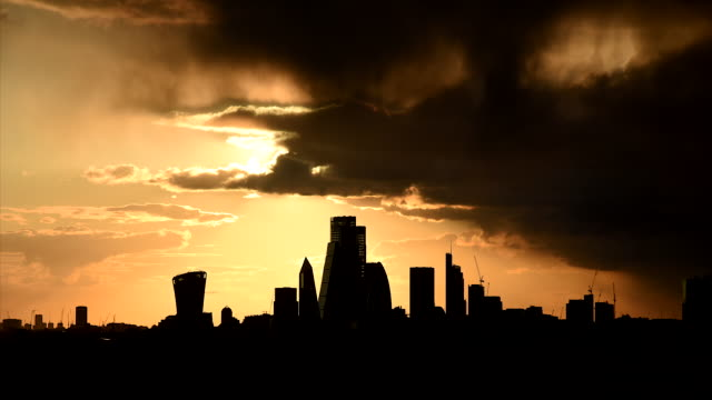 city of london - moody sky stock videos & royalty-free footage
