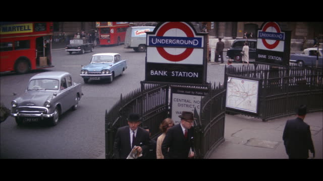 1964 - city of london - commuter stock videos & royalty-free footage