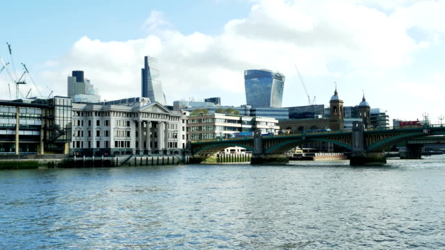 City Of London Viewed From River Thames (4K/UHD to HD)
