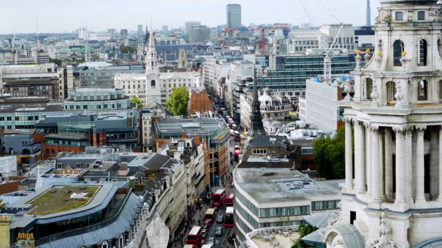 city of london with ludgate hill and fleet street - city of london stock videos & royalty-free footage
